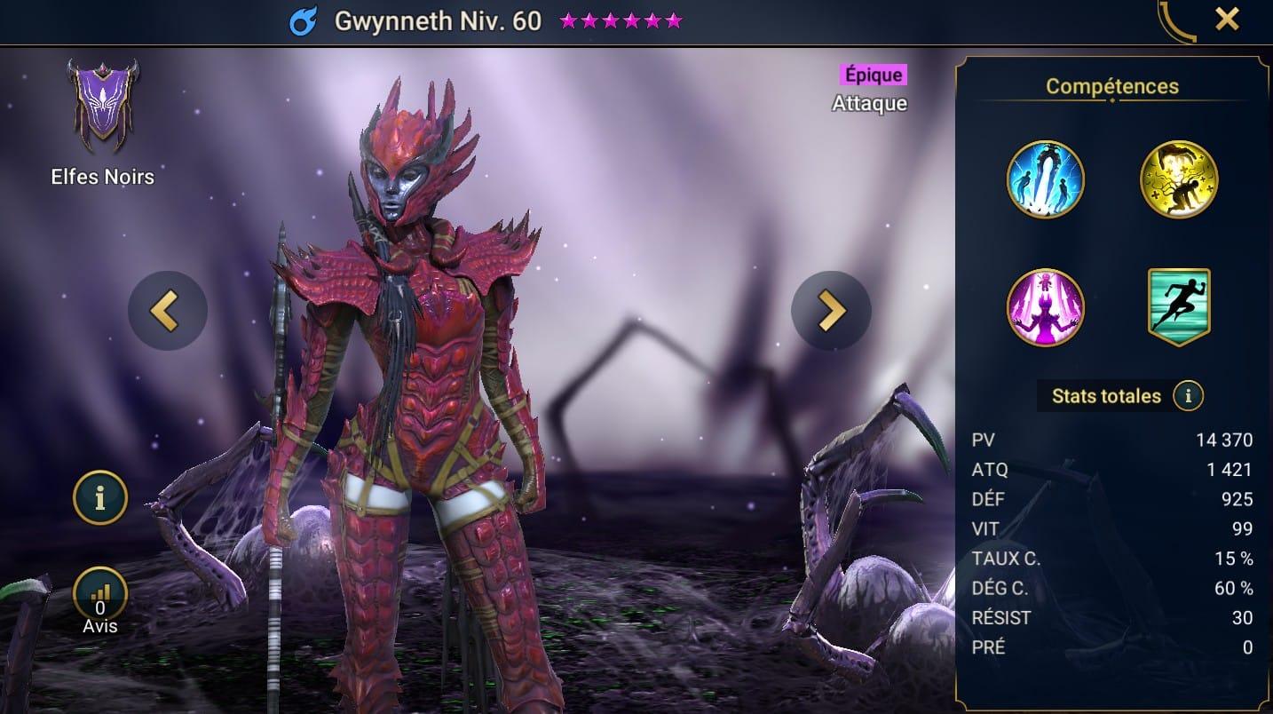 Guide maîtrises et artefact sur Gwynneth
