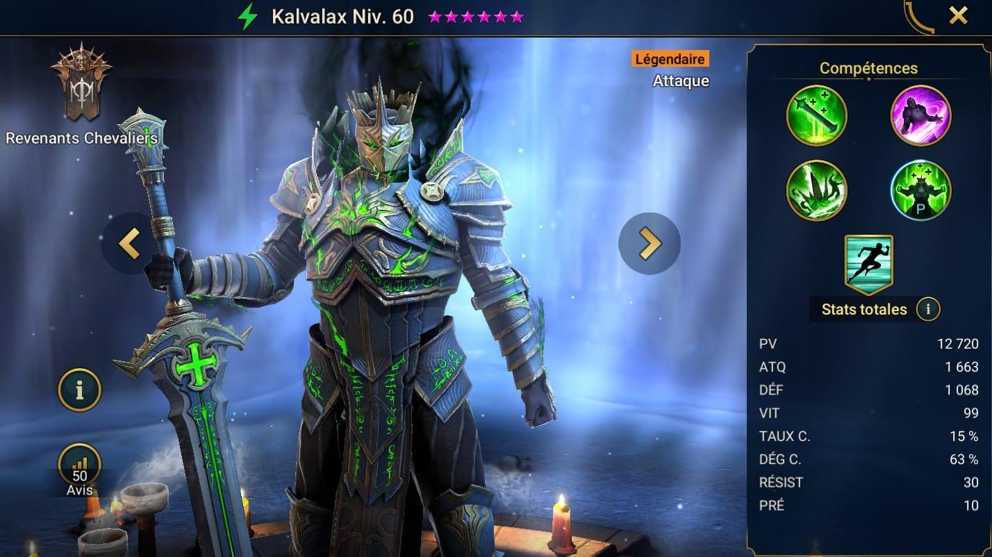 Guide maîtrises et artefact sur Kalvalax