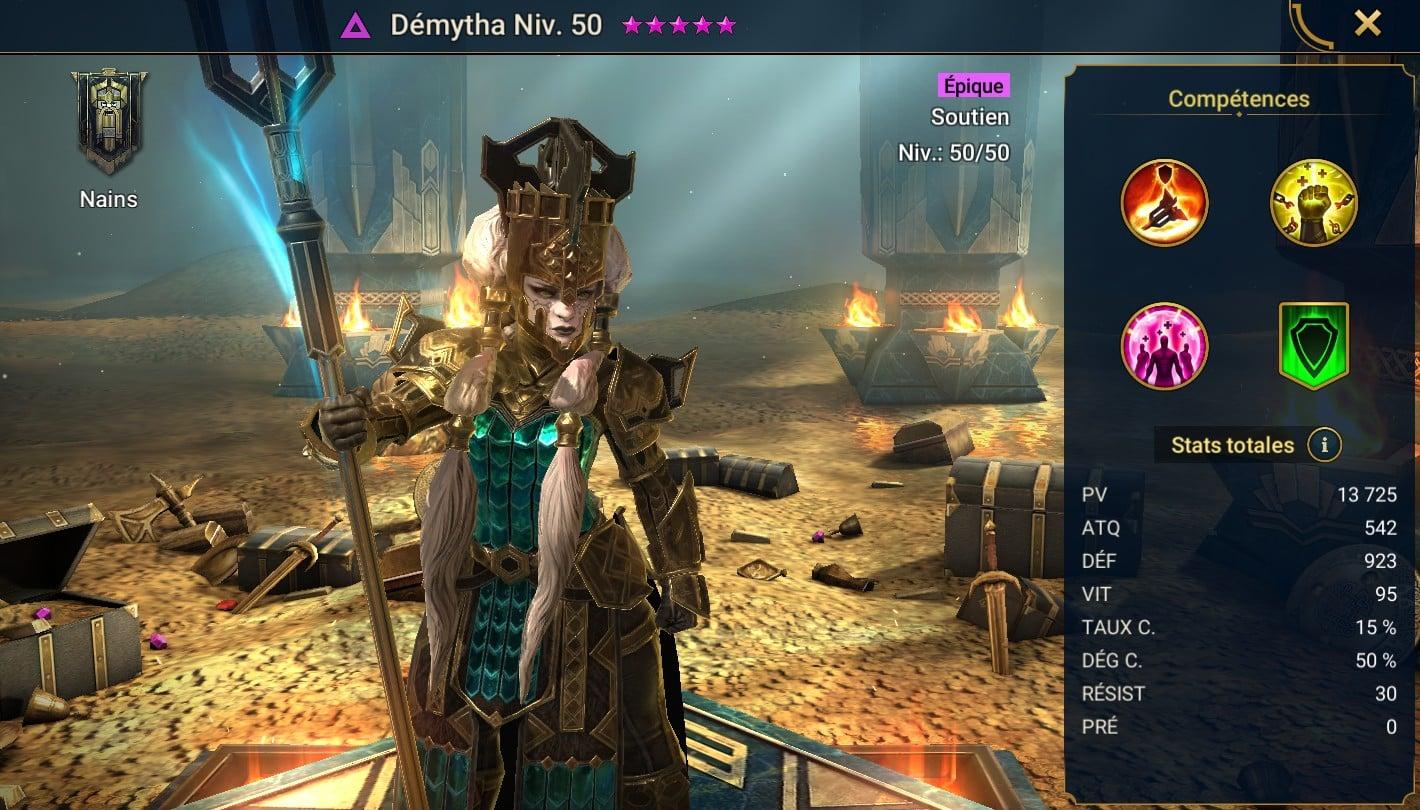 Guide maîtrises et artefact sur Démytha